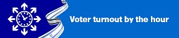 Voter turnout by the hour